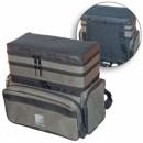 Ящик-рюкзак рыболовный зимний пенопластовый 3-х ярусный (H-3LUX)