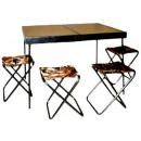 """Набор мебели """"Отдых"""" (стол+4 стула) 560x800 мм (02833)"""