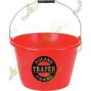Ведро для прикормки 17л красное ТРАПЕР (23001)
