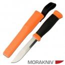 Нож универсальный в пластиковых ножнах MoraKNIV 2000 оранж. (12057)