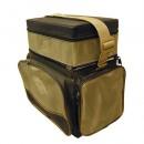Ящик-сумка-рюкзак рыболовный зимний пенопластовый 2-х ярусный (B-2LUX)
