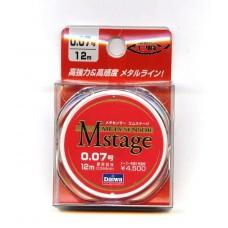 Поводковый материал DAIWA METASENSOR M-STAGE (0,052мм) - 12м