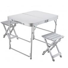 Стол складной Norfin BOREN NF алюминиевый 80x60 +2 стула набор (NF-20309)