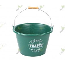 23000 Ведро для прикормки 17 л зеленое ТРАПЕР (23000Т)